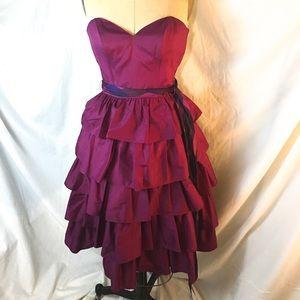 Casadei Vintage Strapless Purple Dress 1980s